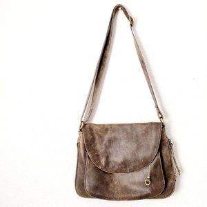 Latico Brown Leather Crossbody Saddle Bag Purse